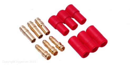 3.5mm Gold Connectors (3 M/F +1 set of Symmetrical Insulator)