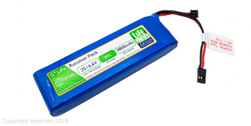 Hyperion G5 Receiver Pack 2S 3800mAh LiFePo4
