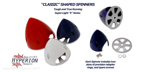 "Standard ""Classic"" Shape 102mm Large Scale Spinnner - BLUE"