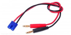 Charge Cable for EC3 Packs, 4mm Bullets to Charger