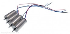 8.5x20mm Brushed DC Motor 15,000Kv (CW & CCW) - 2 pair