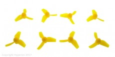 Hyperion 31MM Micro Tri-Blade Prop for Brushed Motors Yellow (CW & CCW 4 Pairs)