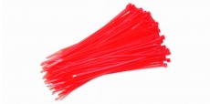 Nylon Cable Zip Tie 3x150mm 100pcs (Red)