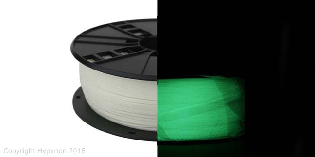 3D Printer PLA Filament, 1.75mm, 0.5kg (Luminous Green)