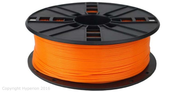 3D Printer PLA Filament, 1.75mm, 0.5kg (Orange)
