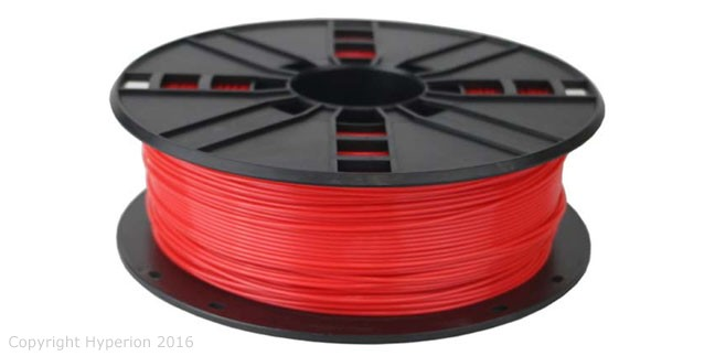 3D Printer PLA Filament, 1.75mm, 0.5kg (Red)