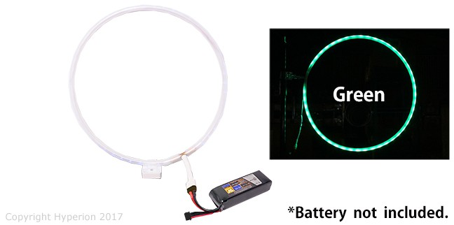 Hyperion FPV Green LED Race Hoop Gate (Small / 26cm diameter)